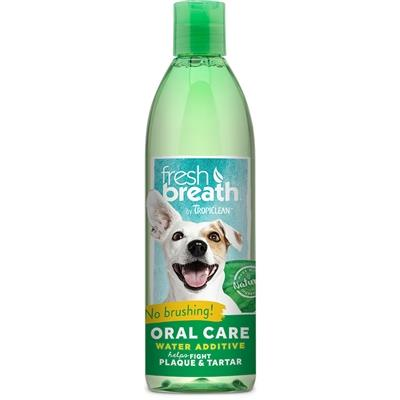 TropiClean Fresh Breath Oral Care Water Additive - Freshens breath and cleans teeth