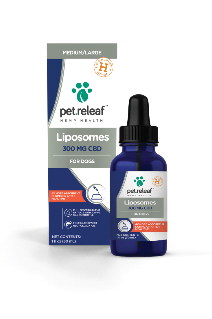 Pet Releaf 300mg Liposome Hemp Oil 300mg Active CBD - for medium to large dogs