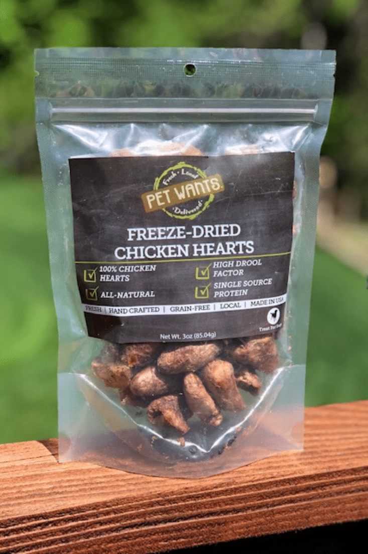 Freeze Dried Chicken Hearts for Cats & Dogs