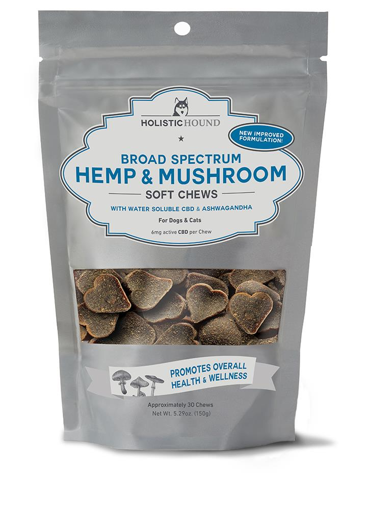 Chewy CBD Bites for Cats & Dogs - Beef & Beef Liver - Water Soluble Technology - 6mg per bite 30 treats/bag by Holistic Hounds
